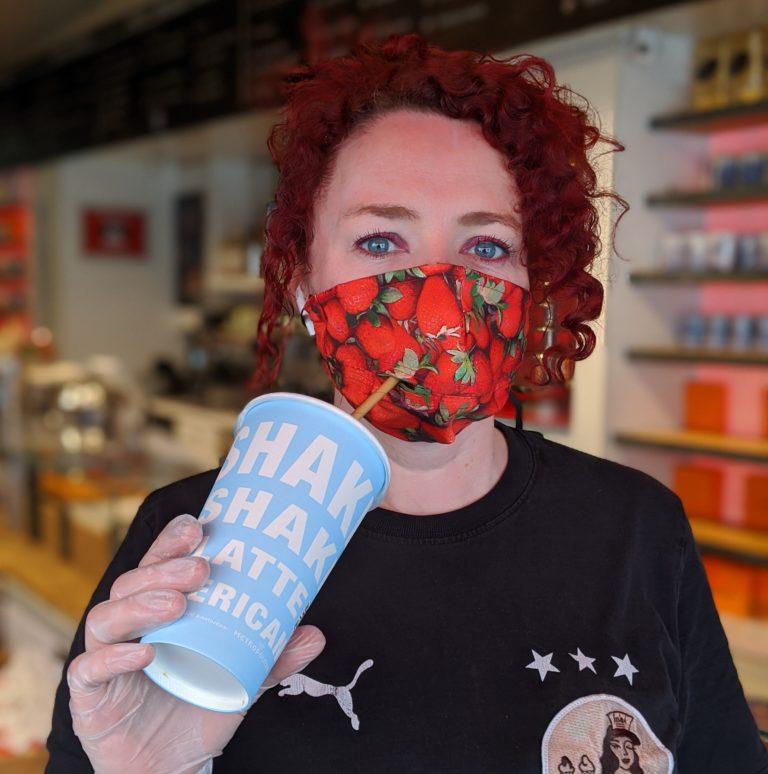 Milkshake masker aardbei
