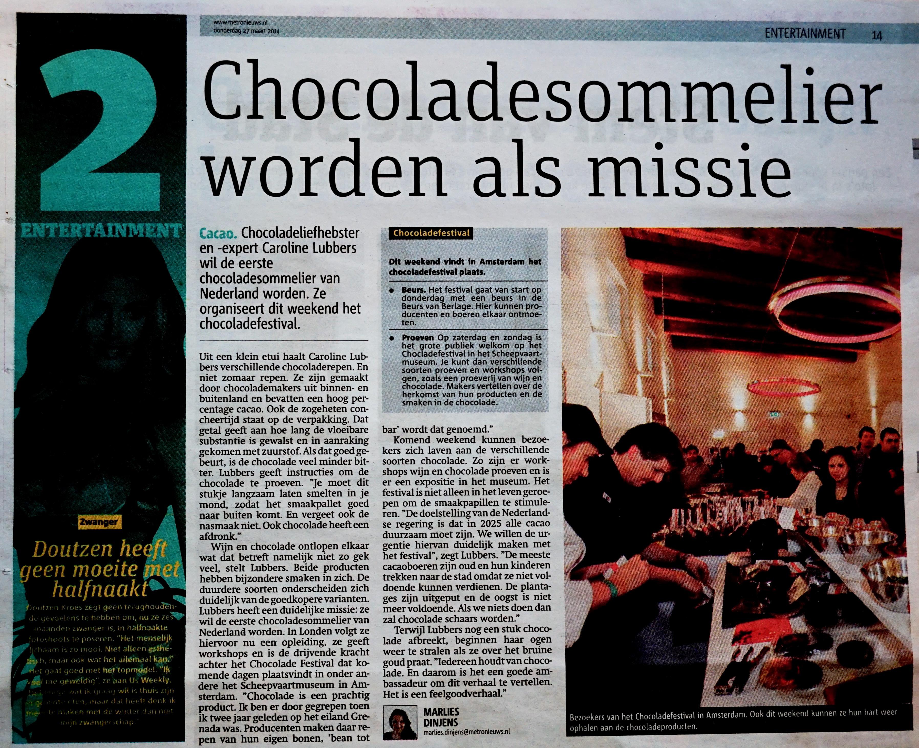 Metro nieuws 27 maart